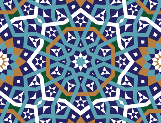 وکتور طرح کاشی کاری اسلامی شماره ۱۸۴