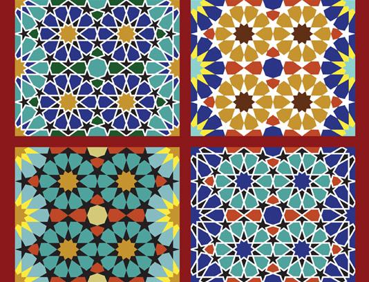 وکتور طرح کاشی کاری اسلامی شماره ۱۸۷