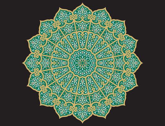وکتور طرح کاشی کاری اسلامی شماره ۱۸۸