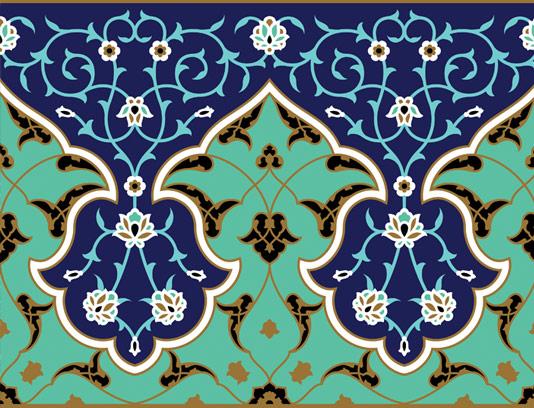 وکتور طرح کاشی کاری اسلامی شماره ۱۸۹