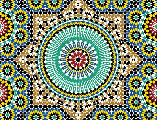 وکتور طرح کاشی کاری اسلامی شماره ۱۹۱