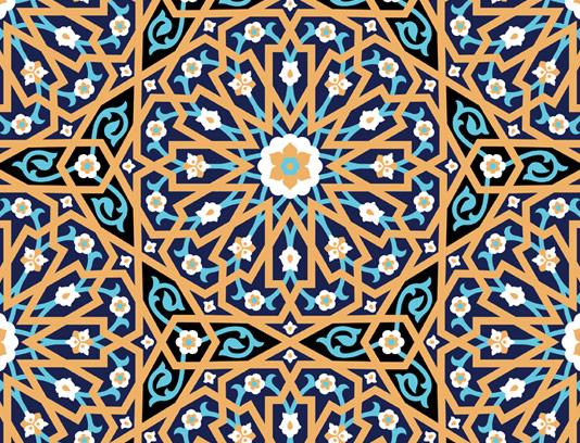 وکتور طرح کاشی کاری اسلامی شماره ۱۹۳