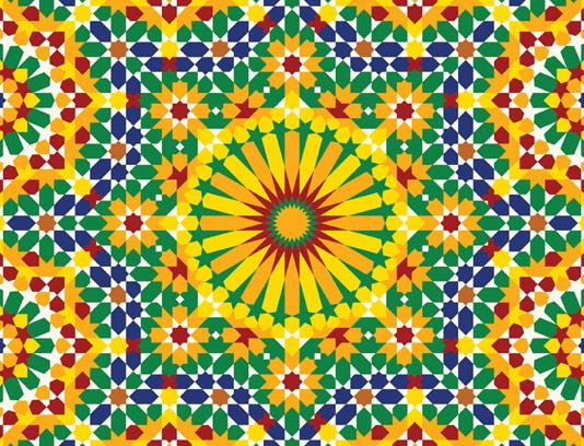 وکتور طرح کاشی کاری اسلامی شماره ۱۹۵