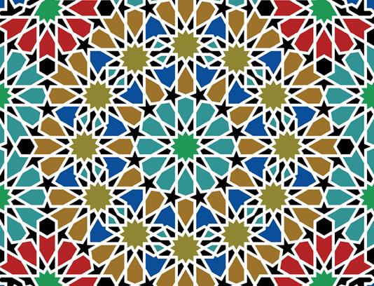 وکتور طرح کاشی کاری اسلامی شماره ۱۹۶