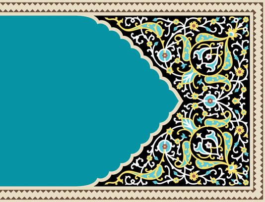 وکتور طرح کاشی کاری اسلامی شماره ۱۹۸