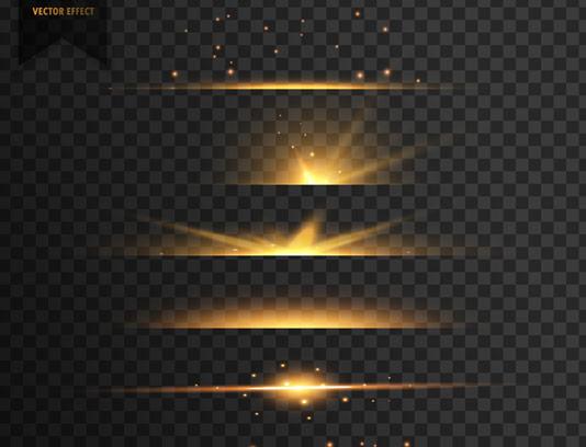 وکتور طرح افکت های نور بدون پس زمینه شماره ۲۹