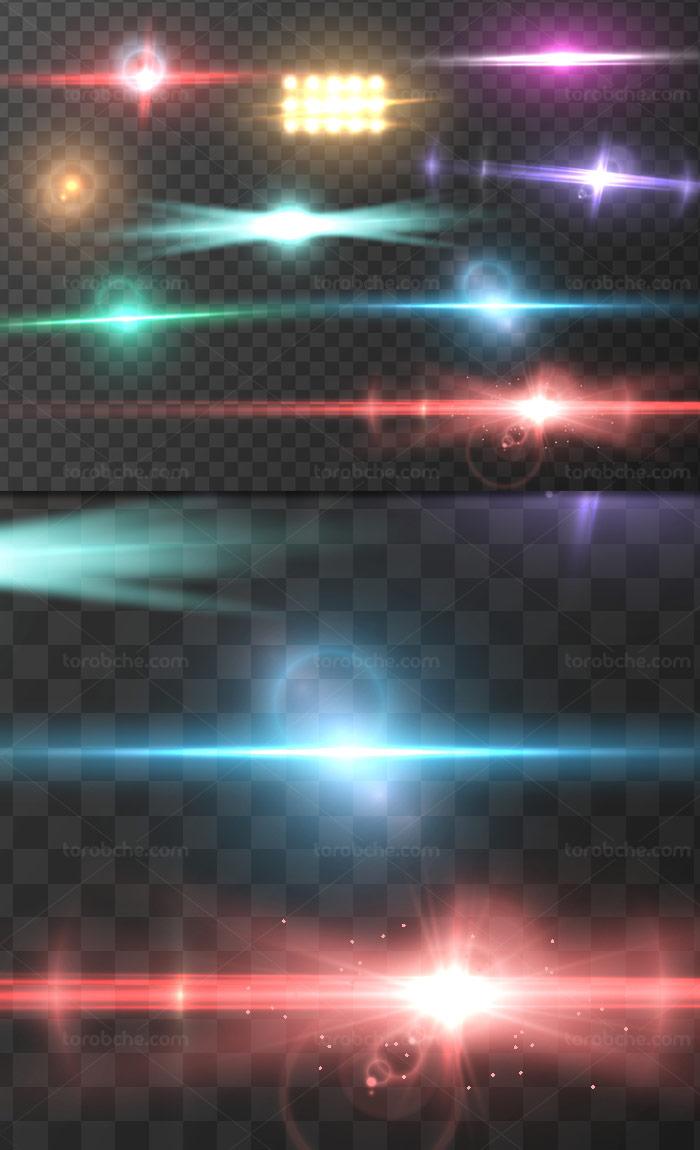 وکتور طرح افکت نور بدون پس زمینه شماره ۳۰
