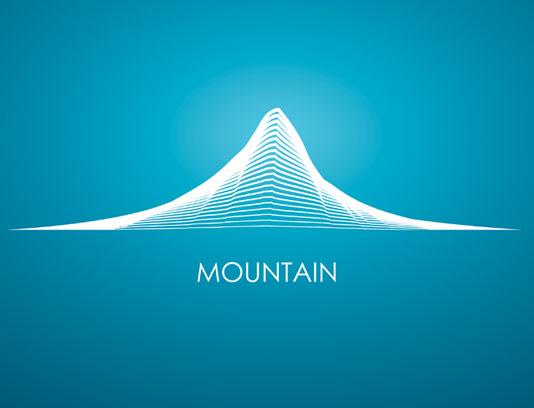 وکتور طرح لوگوی انتزاعی کوه
