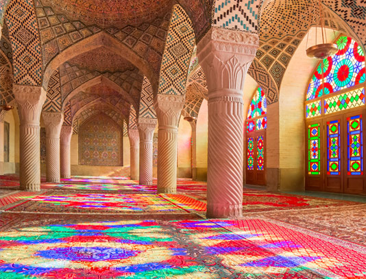 عکس با کیفیت مسجد نصیر الملک شیراز