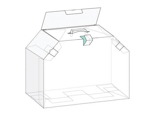 وکتور طرح بسته بندی و صفحه گسترده جعبه کیفی