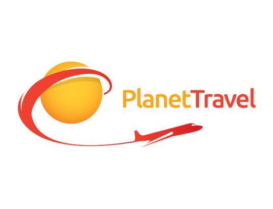 وکتور لوگوی خلاقانه آژانس مسافرتی با نماد هواپیما