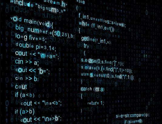 وکتور طرح بکگراند تایپوگرافی کد نویسی حرفه ای