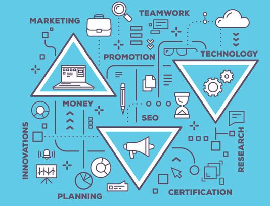 وکتور طرح مفهومی پلن استراتژیک کسب و کار