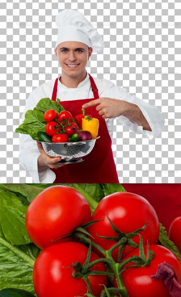 عکس دوربری شده آشپز با کیفیت عالی