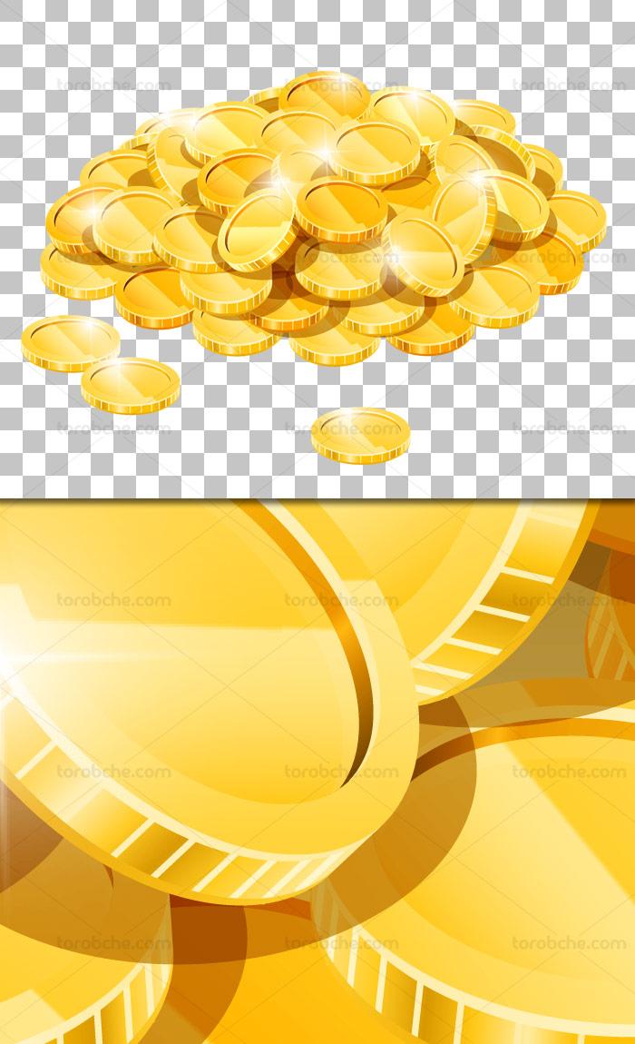 عکس با کیفیت دوربری شده سکه های طلا