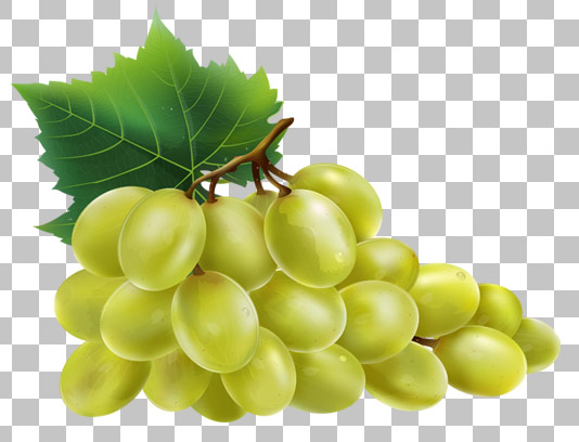 عکس دوربری شده انگور سبز با کیفیت عالی