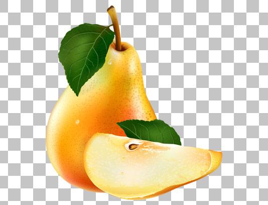 عکس دوربری شده میوه گلابی با کیفیت عالی