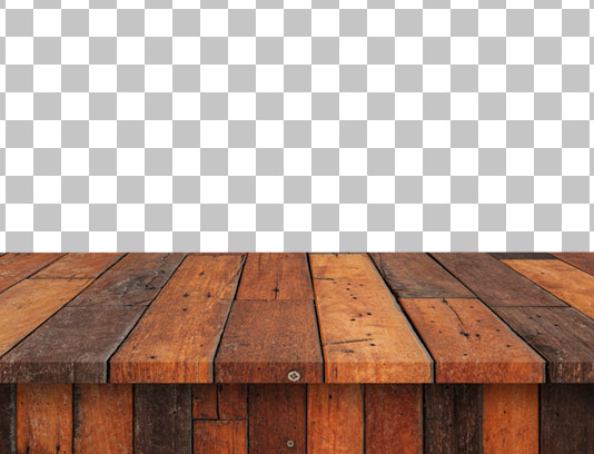 عکس دوربری شده میز چوبی با کیفیت عالی و فرمت PNG
