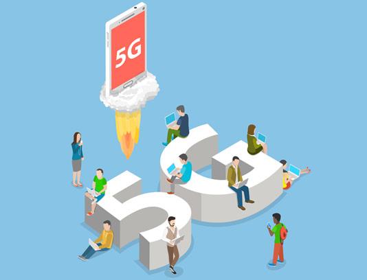 وکتور طرح مفهومی و ایزومتریک اینترنت 5G