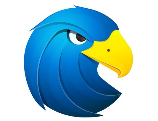 وکتور طرح لوگوی خلاقانه عقاب آبی
