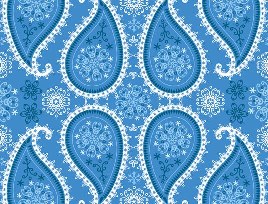 وکتور بکگراند بته جغه های آبی رنگ سنتی ایرانی