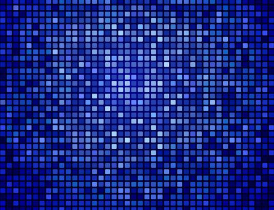 وکتور بکگراند آبی رنگی پیکسلی انتزاعی
