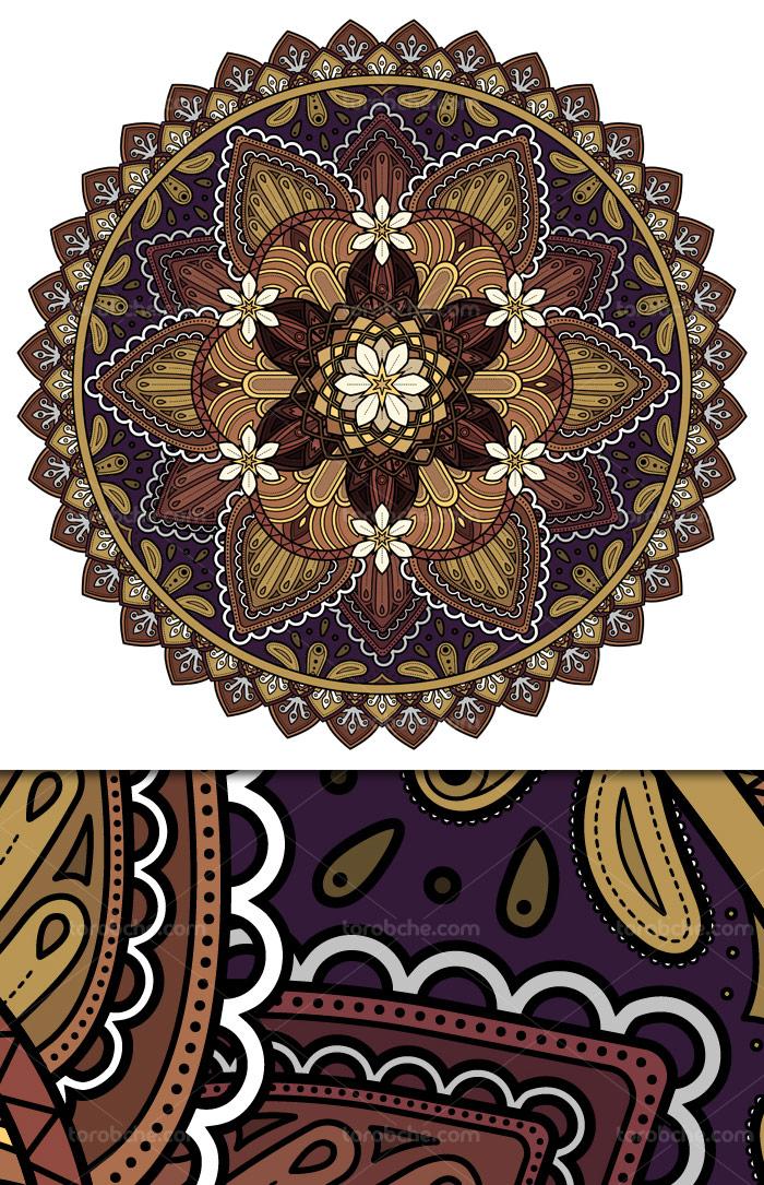 وکتور طرح قالیچه، فرش و گلیم سنتی شماره ۰۲