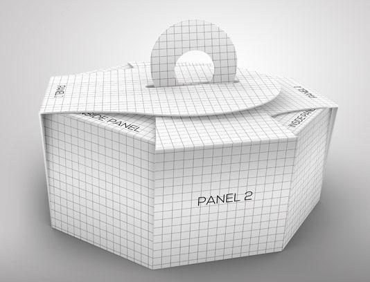 موکاپ بسته بندی کیک و شیرینی لایه باز PSD
