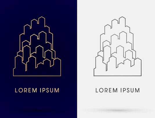 وکتور طرح لوگوی شهر سازی و ساختمان سازی