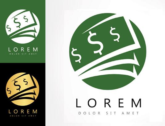 وکتور طرح لوگوی دلار و صرافی