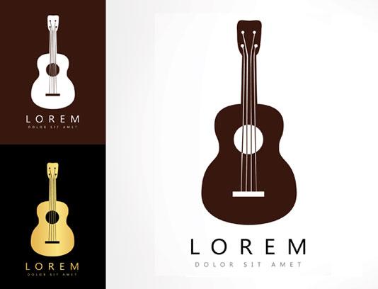وکتور طرح لوگوی آموزشگاه موسیقی و گیتار