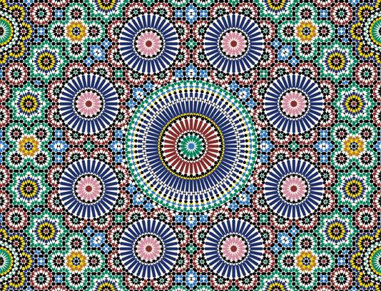 وکتور طرح کاشی کاری اسلامی شماره ۲۰۱