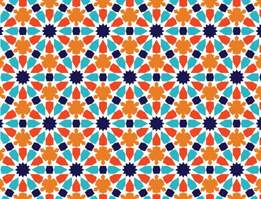 وکتور طرح کاشی کاری اسلامی شماره ۲۰۲