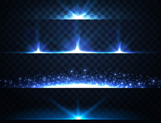 وکتور طرح افکت های نور بدون پس زمینه شماره ۳۱