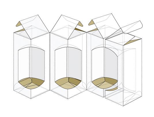 وکتور طرح بسته بندی و صفحه گسترده جعبه مکعب مستطیل