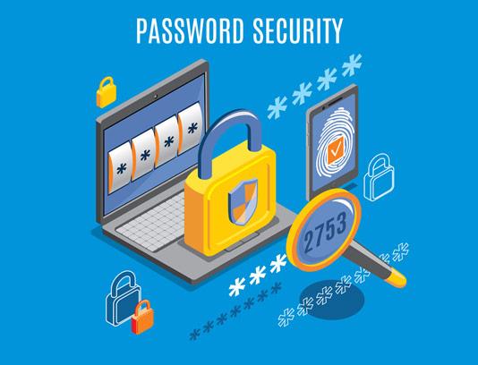 وکتور طرح فلت امنیت پسورد های دیجیتال به صورت ایزومتریک