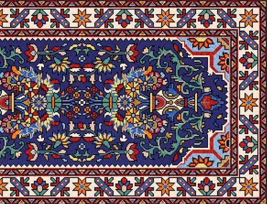 وکتور طرح نقشه فرش و گلیم سنتی ایرانی قدیمی