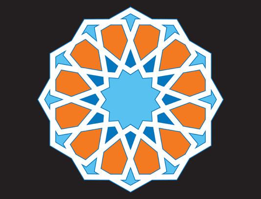 وکتور طرح المان اسلامی شمسه شماره ۰۷