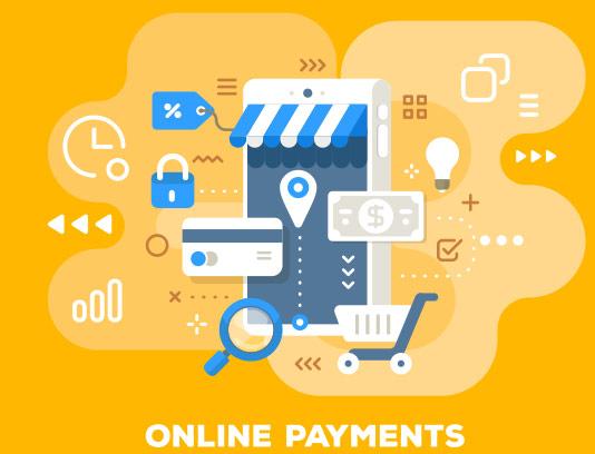وکتور طرح مفهومی پرداخت آنلاین فلت انتزاعی