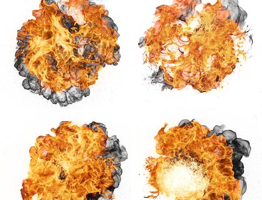 عکس با کیفیت شعله آتش در 4 حالت مختلف