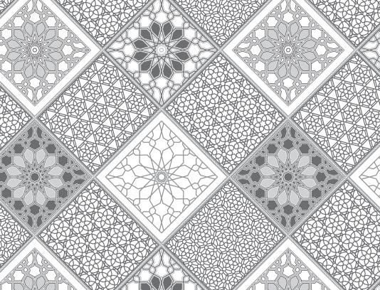 وکتور پترن لوزی شکل با رنگ سیاه و سفید