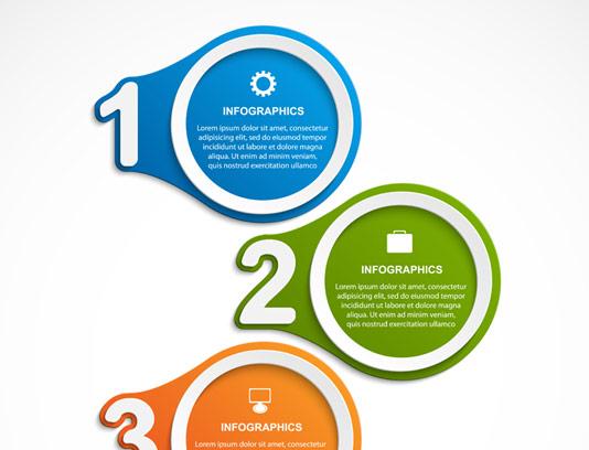 وکتور طرح اینفوگرافیک چهار قسمتی دایره ای با توضیحات