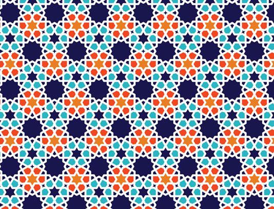 وکتور طرح کاشی کاری اسلامی شماره ۲۰۳