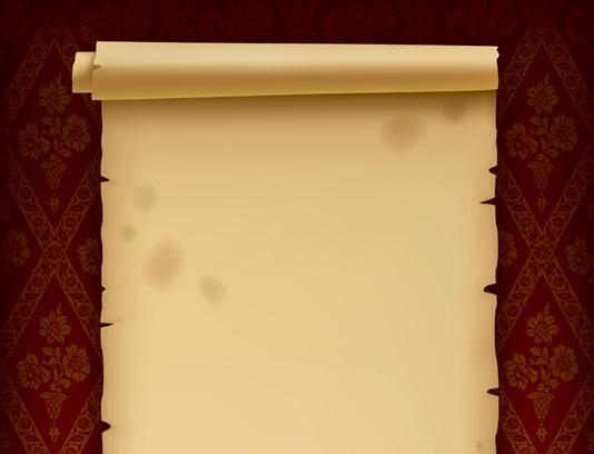 وکتور کاغذ رول شده قدیمی با کیفیت عالی