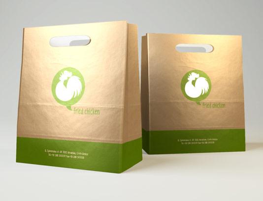 موکاپ بسته بندی پاکت کاغذی فست فود
