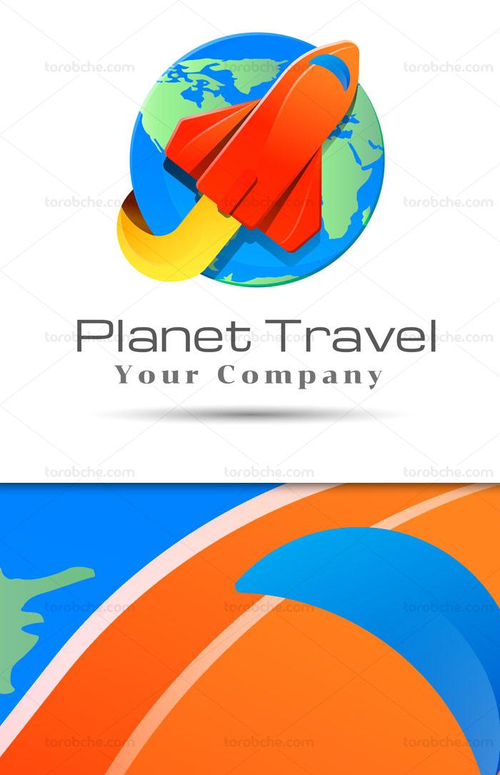 وکتور لوگوی طرح سفر به دور دنیا
