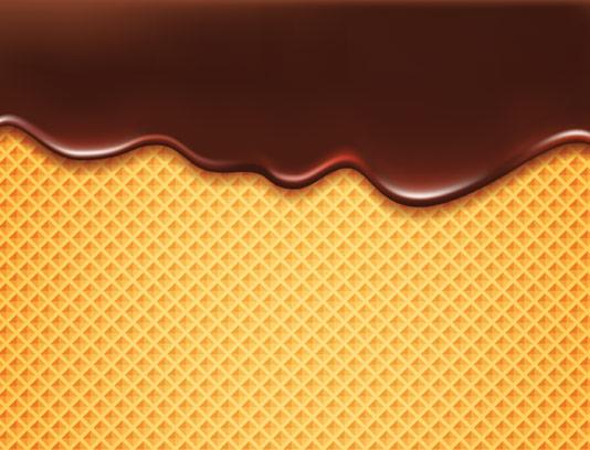 وکتور بافت بیسکوئیت ویفر با شکلات