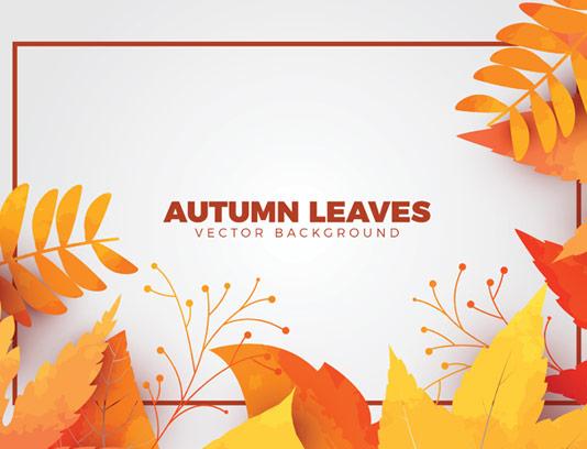 وکتور بکگراند طراحی با برگ های پاییزی