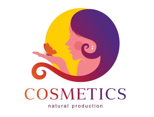 وکتور طرح لوگوی محصولات آرایشی و بهداشتی