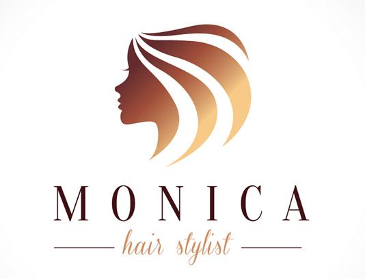 وکتور طرح لوگوی آرایشگاه زنانه مونیکا